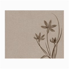 Background Vintage Drawing Sepia Small Glasses Cloth (2 Side)