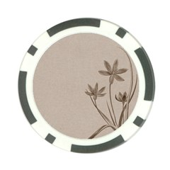 Background Vintage Drawing Sepia Poker Chip Card Guard