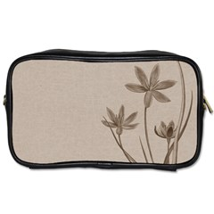 Background Vintage Drawing Sepia Toiletries Bags by Nexatart