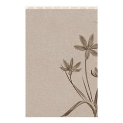 Background Vintage Drawing Sepia Shower Curtain 48  X 72  (small)