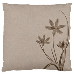 Background Vintage Drawing Sepia Large Cushion Case (two Sides)