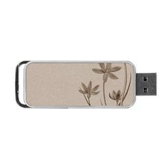 Background Vintage Drawing Sepia Portable Usb Flash (two Sides)