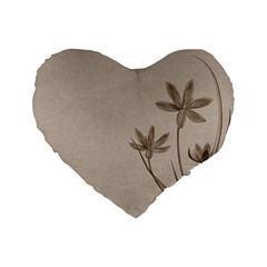 Background Vintage Drawing Sepia Standard 16  Premium Heart Shape Cushions