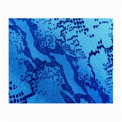 Background Tissu Fleur Bleu Small Glasses Cloth (2 Side)