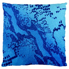 Background Tissu Fleur Bleu Large Cushion Case (two Sides)
