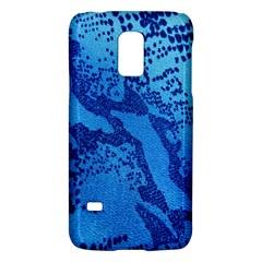 Background Tissu Fleur Bleu Galaxy S5 Mini by Nexatart
