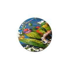 Beautifull Parrots Bird Golf Ball Marker (10 Pack)