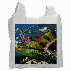 Beautifull Parrots Bird Recycle Bag (two Side)