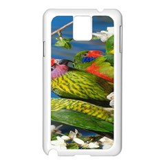 Beautifull Parrots Bird Samsung Galaxy Note 3 N9005 Case (white) by Nexatart