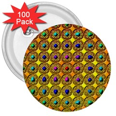 Background Tile Kaleidoscope 3  Buttons (100 Pack)
