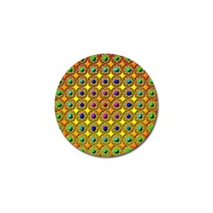 Background Tile Kaleidoscope Golf Ball Marker by Nexatart