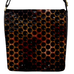 Beehive Pattern Flap Messenger Bag (s)