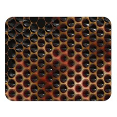 Beehive Pattern Double Sided Flano Blanket (large)