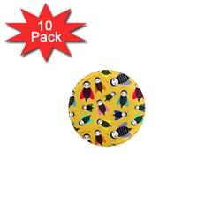 Bees Animal Pattern 1  Mini Magnet (10 Pack)