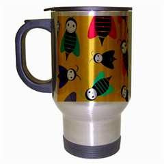Bees Animal Pattern Travel Mug (silver Gray) by Nexatart