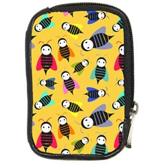 Bees Animal Pattern Compact Camera Cases by Nexatart