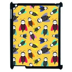 Bees Animal Pattern Apple Ipad 2 Case (black) by Nexatart