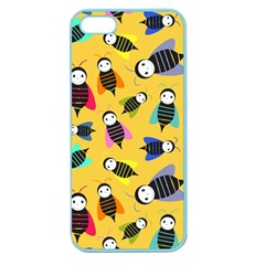 Bees Animal Pattern Apple Seamless Iphone 5 Case (color)