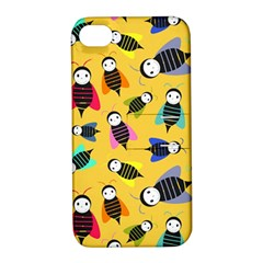 Bees Animal Pattern Apple Iphone 4/4s Hardshell Case With Stand