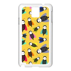 Bees Animal Pattern Samsung Galaxy Note 3 N9005 Case (white)