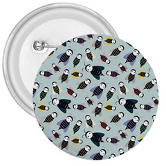 Bees Animal Pattern 3  Buttons