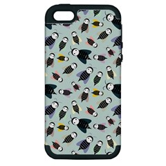 Bees Animal Pattern Apple Iphone 5 Hardshell Case (pc+silicone)