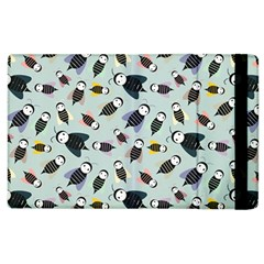 Bees Animal Pattern Apple Ipad 2 Flip Case by Nexatart