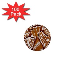 Biscuit Brown Christmas Cookie 1  Mini Buttons (100 Pack)