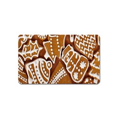 Biscuit Brown Christmas Cookie Magnet (Name Card) by Nexatart