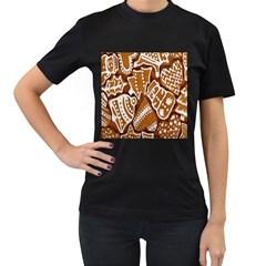 Biscuit Brown Christmas Cookie Women s T Shirt (black)
