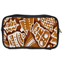 Biscuit Brown Christmas Cookie Toiletries Bags by Nexatart