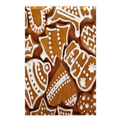 Biscuit Brown Christmas Cookie Shower Curtain 48  X 72  (small)  by Nexatart