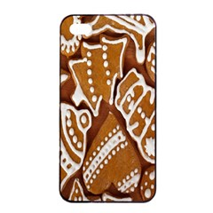 Biscuit Brown Christmas Cookie Apple Iphone 4/4s Seamless Case (black)