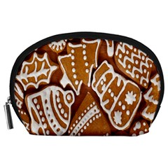 Biscuit Brown Christmas Cookie Accessory Pouches (large)