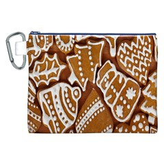 Biscuit Brown Christmas Cookie Canvas Cosmetic Bag (xxl) by Nexatart