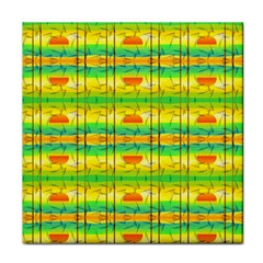 Birds Beach Sun Abstract Pattern Tile Coasters
