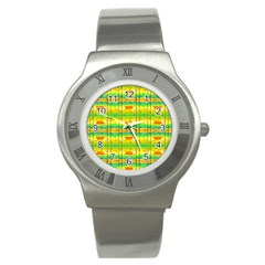 Birds Beach Sun Abstract Pattern Stainless Steel Watch