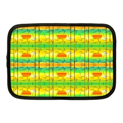 Birds Beach Sun Abstract Pattern Netbook Case (medium)  by Nexatart