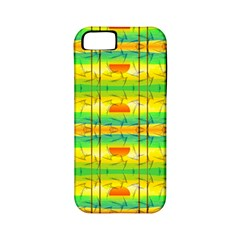Birds Beach Sun Abstract Pattern Apple Iphone 5 Classic Hardshell Case (pc+silicone)