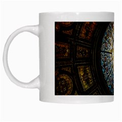 Black And Borwn Stained Glass Dome Roof White Mugs by Nexatart