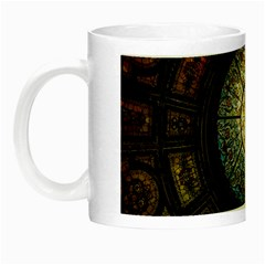 Black And Borwn Stained Glass Dome Roof Night Luminous Mugs by Nexatart