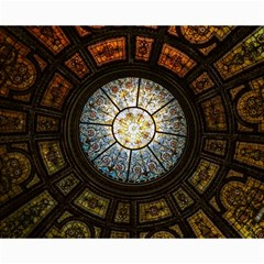 Black And Borwn Stained Glass Dome Roof Canvas 16  X 20
