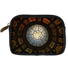Black And Borwn Stained Glass Dome Roof Digital Camera Cases by Nexatart
