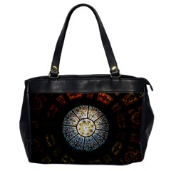 Black And Borwn Stained Glass Dome Roof Office Handbags by Nexatart