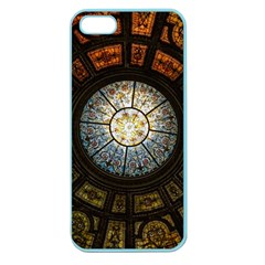 Black And Borwn Stained Glass Dome Roof Apple Seamless Iphone 5 Case (color)
