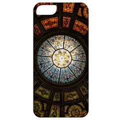 Black And Borwn Stained Glass Dome Roof Apple Iphone 5 Classic Hardshell Case by Nexatart