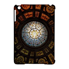 Black And Borwn Stained Glass Dome Roof Apple Ipad Mini Hardshell Case (compatible With Smart Cover) by Nexatart