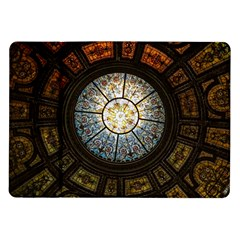 Black And Borwn Stained Glass Dome Roof Samsung Galaxy Tab 10 1  P7500 Flip Case by Nexatart