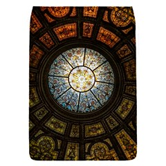 Black And Borwn Stained Glass Dome Roof Flap Covers (s)  by Nexatart