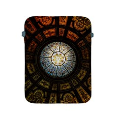 Black And Borwn Stained Glass Dome Roof Apple Ipad 2/3/4 Protective Soft Cases by Nexatart